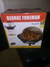 George Foreman Electric grill great for CONDO LIFE! USUALLY $ 139.00.