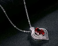 $7 new silver-plated adjustable CZ necklace Ballwin, 63021