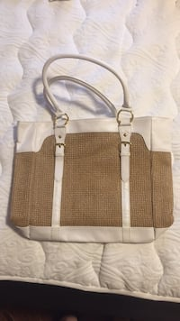 brown and white leather tote bag Brampton, L6R