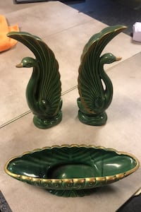 Antique candy dish with matching bookends