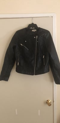Women's black leather jacket Triangle, 22172