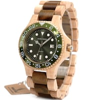 BOBO BIRD MIYOTA QUARTZ SANDALWOOD WATCH WITH WOODEN STRAP