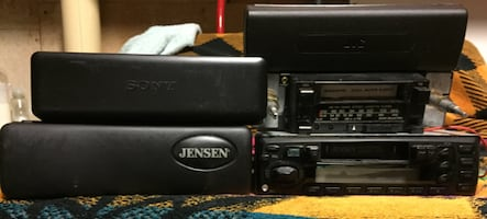 FOUR USED AUTO STEREOS