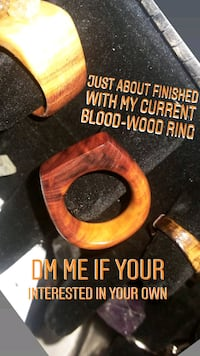 Hand carved blood-wood rings Jackson, 08527