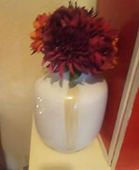 Cream and brown.   Cream and brown vase with red  Napa, 94559