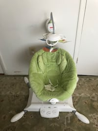baby's green and white cradle and swing Hyattsville, 20785