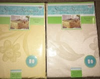 2 OBLONG tablecloths size 60 x 120 Seats 10-12 NEW in packages Rochester