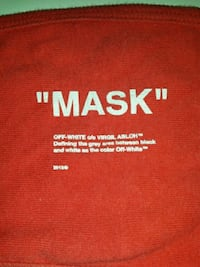 Red off white mask size small Burnaby, V3N 2G4