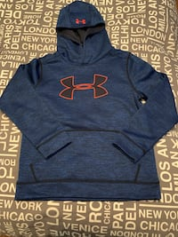 NEW Boys UNDER ARMOUR hooded logo sweater sz. M Laval, H7K