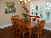Solid Oak Table and 6 Chairs Madison
