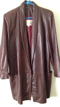 Italian soft leather coat.Medium 41 km