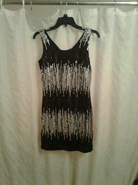 sequined silver and black dress Gautier, 39553