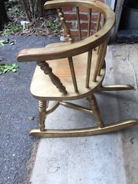 Child's rocking chair, painted gold.  My kids loved this chair!