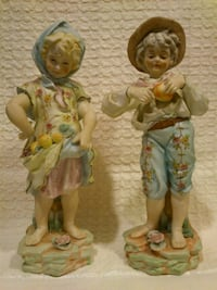 "Pair of Porcelain Bisque Figurines ""Harvest Time""   West Springfield"