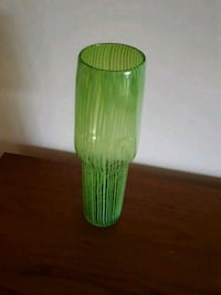 Green Glass Retro Vase Port Moody, V3H 1B7