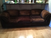 Brown 3-seat couch