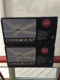 Two Coolmount ceiling fans. Brand new in the box. 50.00 each. Lindenwold, 08021