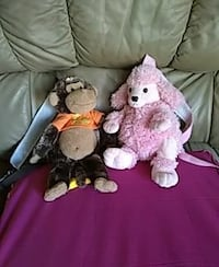 Poodle  and.   lamb            n monkey plush toys Richmond, 77406