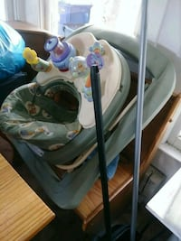baby's gray and white cradle and swing Tampa, 33604
