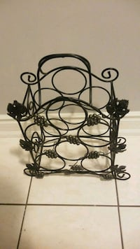 Black Metal Wine Rack. Toronto, M9N 3X8