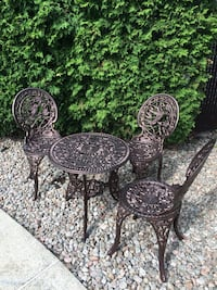 two black metal patio chairs Laval, H7E 5L4