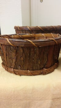 Bark baskets set of 5 Largo