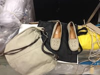 Leather le Canadianne Shoes, Taille / size 40 (9 / 9.5) and matching leather Gap shoulder bag - excellent condition. Prix /Price $45 Montreal, QC, Canada