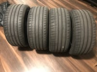 4 Michelin tires size 245/40 ZR18 in good condition West Des Moines, 50266