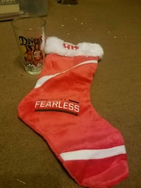 Bella's glass and fearless stocking  1492 mi