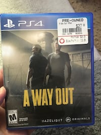 A WAY OUT PS4 GAME Bakersfield, 93309