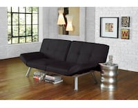 Contempo Tufted Futon Couch, Multiples Positions (Black) Houston, 77092