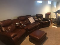 Brown Leather Recliner and Chair  Olney, 20832