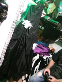 Black and white prom dress very streamlined