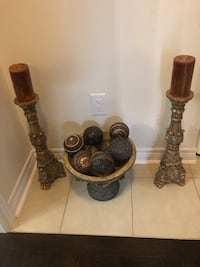 2 candles and display balls - best offer