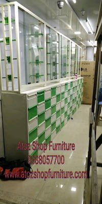 Medical shop furniture with Display Counter  Mumbai