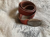 Brown leather belt with gold buckle Los Angeles, 90019