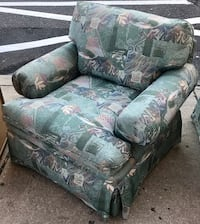 Skirted Green Pattern Armchair by Beachley of Maryland