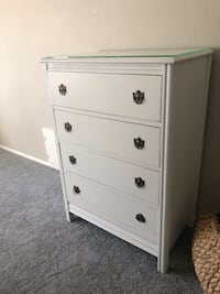 white wooden 4-drawer chest Lakewood, 80235
