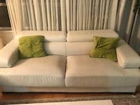 white leather 2-seat sofa Vaughan, L4K