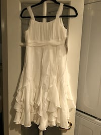 White spaghetti strap tea length formal dress.  New with tags. Size 14 Fairfax, 22030