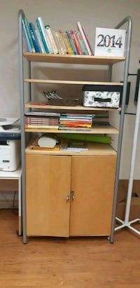 brown wooden cabinet with shelf Toronto, M2L 1C5