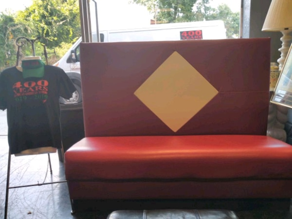 Used Microfiber Red Couch And Loveseat With Recliners