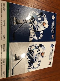 Toronto Maple Leaf Tickets, Monday October 21, 2019, Face Value Toronto, M5H 2N2