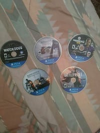 four Sony PS4 game discs Bakersfield, 93306