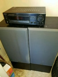 Two speaker towers and Sony amp Sevierville, 37876