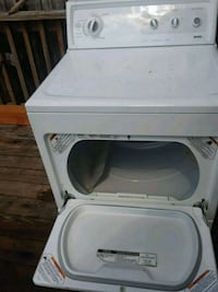 white front-load clothes dryer York, 17403