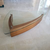 Mid-Century Modern Glass Coffee Table null