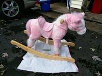 pink and white rocking horse Warminster, 18974