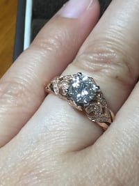 Rose gold setting with .86 diamond ring SANDIEGO