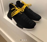 pair of black Adidas NMD shoes with box Ancaster, L9G 2W6